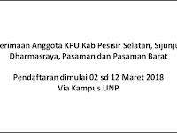 Penerimaan Calon Anggota KPU Kabupaten Pesisir Selatan, Sijunjung, Dharmasraya, Pasaman dan Pasaman Barat Tutup 12 Maret 2018 Via Kampus UNP