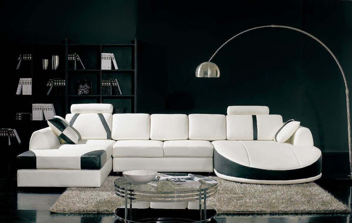 Ultra Modern White Leather Couch