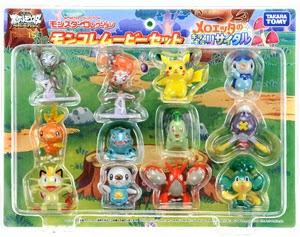 Chikorita figure Takara Tomy MC Meloetta movie set