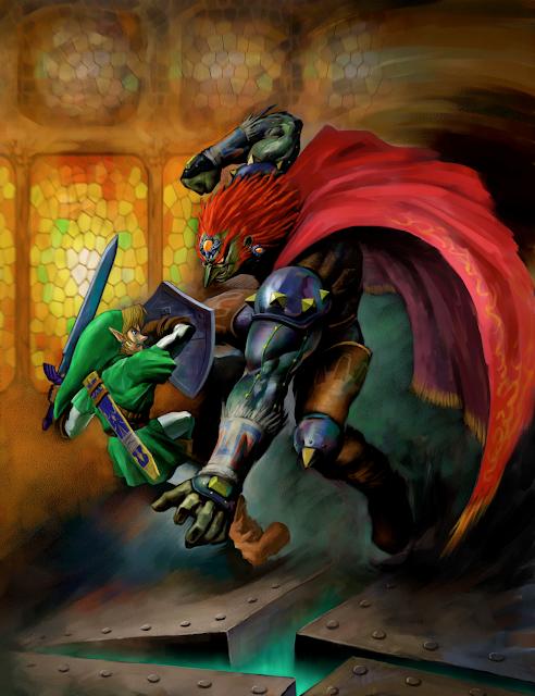 Resultado de imagem para Breath of The Wild como capa. A arte mostra Link e Zelda segurando a Master Sword.
