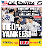 Post goes Yankees front and back