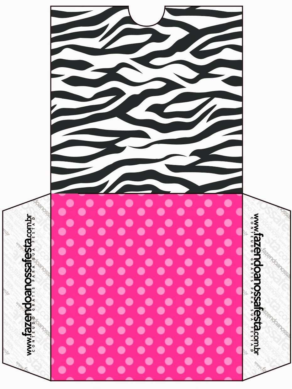 Zebra and Pink Free Printable Candy Bar CD Case.