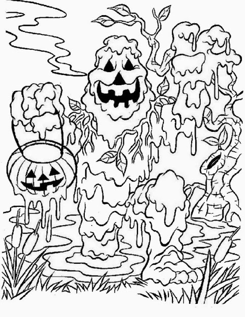 Very Scary Halloween Coloring Pages Printable Inside Scary Halloween  Coloring Sheets