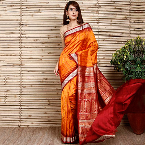 81d05db26d67da Buy online Bhagalpuri silk sarees with designer blouses and match up them  with traditional jewellery and accessories.