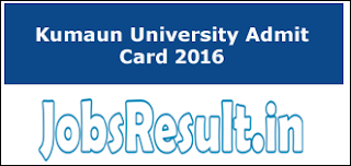 Kumaun University Admit Card 2016