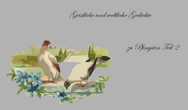 Taubenpaar- Pfingstgedichte