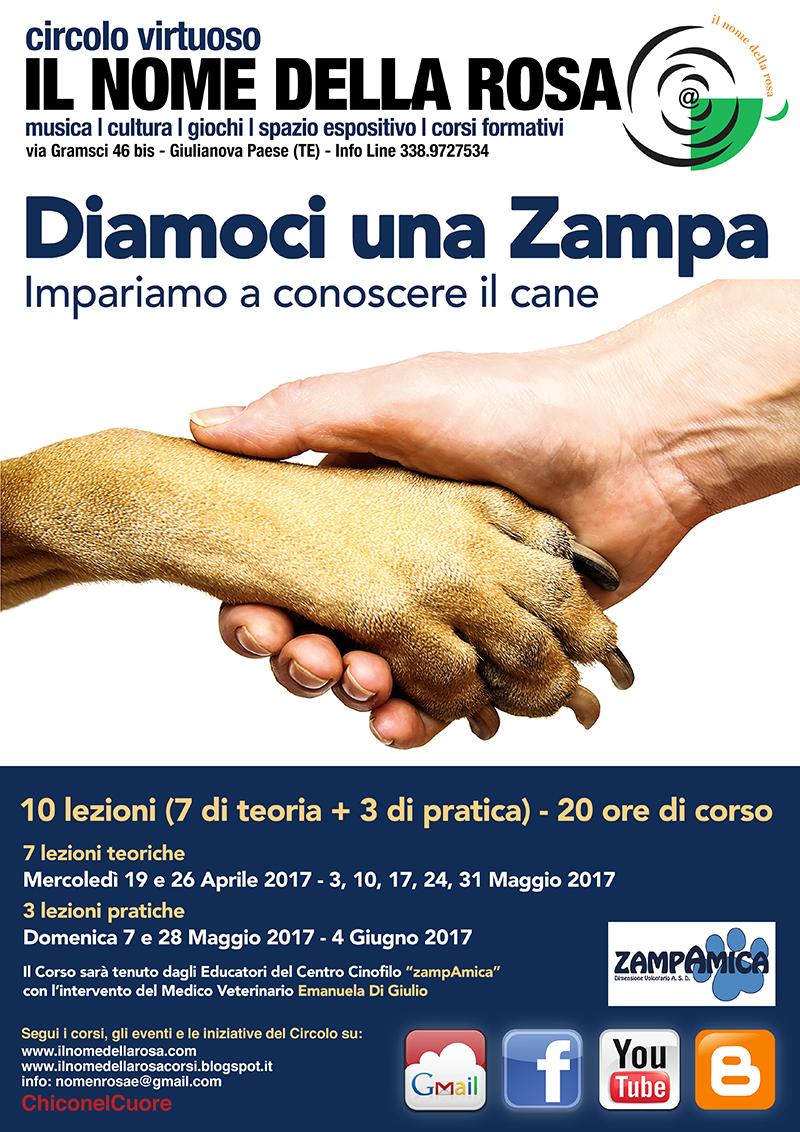 DIAMOCI UNA ZAMPA - Impariamo a conoscere il cane CORSO TEORICO PRATICO