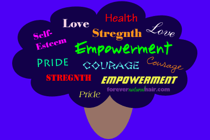 Coourage, Pride, Empowerment, Stregnth in Natural Hair
