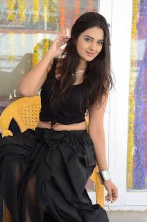 Neha Deshpande Stills in Black Dress at Vajralukavaala Nayana Movie Opening ~ Celebs Next