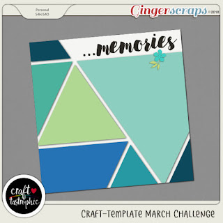 Ginger Scraps March Template Challenge 2 by Craft-tastrophic and Freebie
