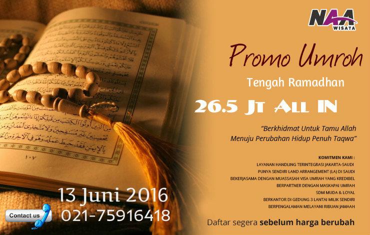 promo umroh tengah ramadhan 2016