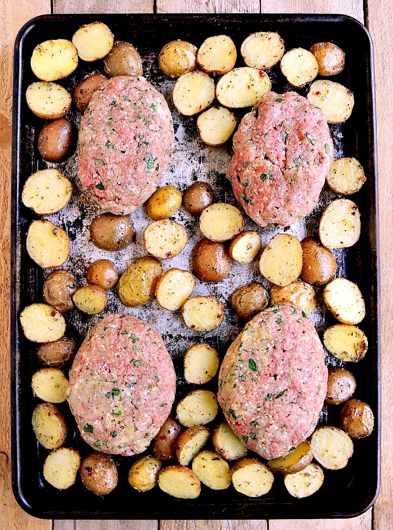 Sheet Pan Mini Meatloaves step 2