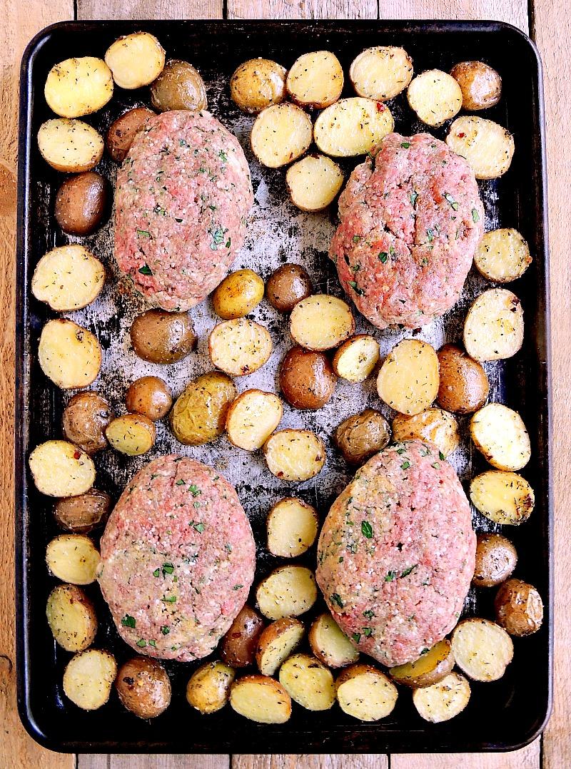 Sheet Pan Mini Meatloaves step 2
