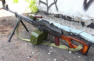 Пулемет ПКМ с деревянным прикладом