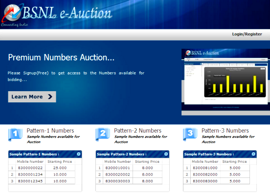 bsnl-fancy-number-e-auction-website