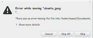"Error while moving ""file"""