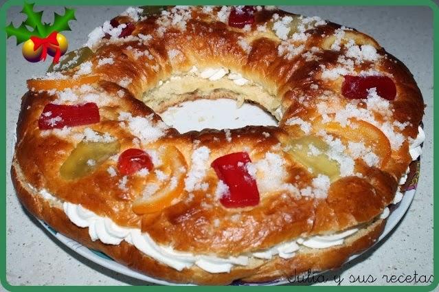 Roscón de reyes tradicional. Julia y sus recetas