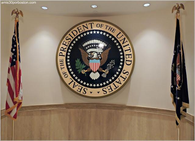 Sello Presidencial en la Biblioteca y Museo Kennedy