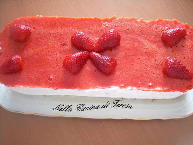 Nella cucina di teresa semifreddo alle fragole con panna - Nella cucina di teresa ...