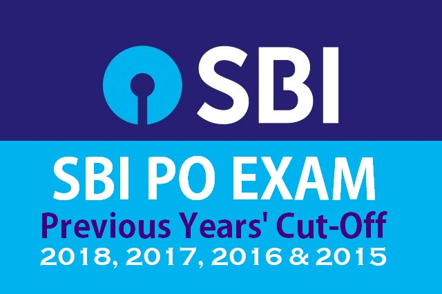 SBI PO Previous Years' Cut-Off - 2017, 2016 & 2015