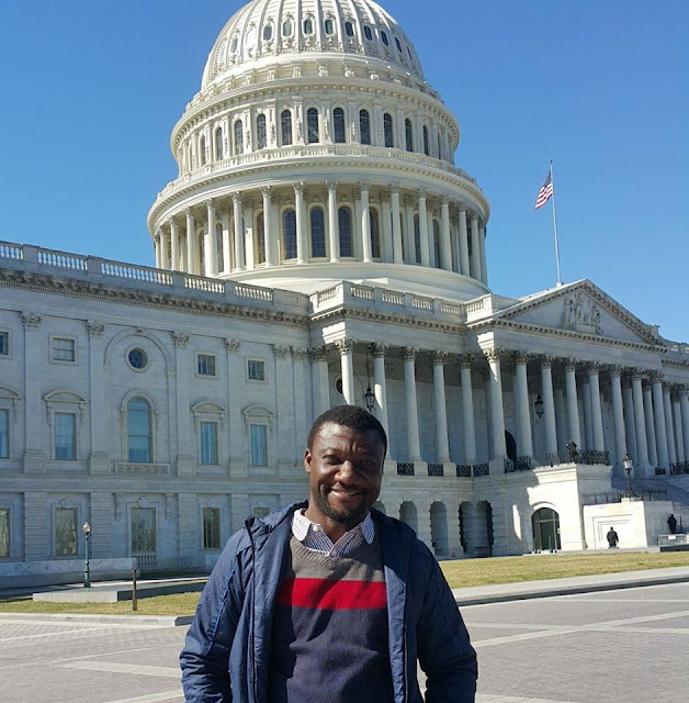 Benue's Top Radio Host, Henry Ipole Shares Stunning Picture From His Vacation Spot In America