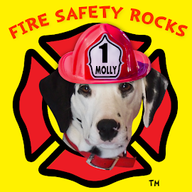 Learning about fire safety is fun learning it with Molly the Fire Safety Dog!