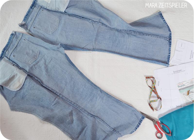 Hose aus alter jeans nahen