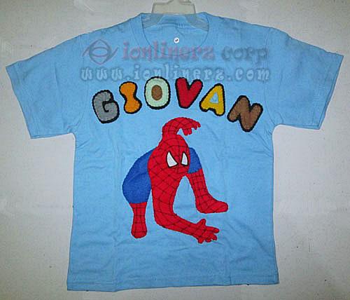 Kaos / Baju Flanel Anak Karakter Kartun Spiderman