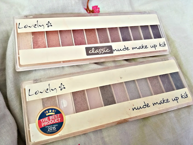 Classic&Nude make up kit - paletki cieni z Lovely