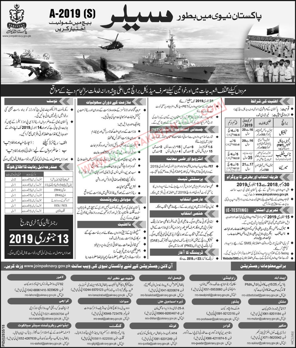 Join pak navy 2019, pak navy jobs sailor 2019 , new pak navy jobs 30 dec 2018, joinpaknavy.gov.pk Naib khateeb