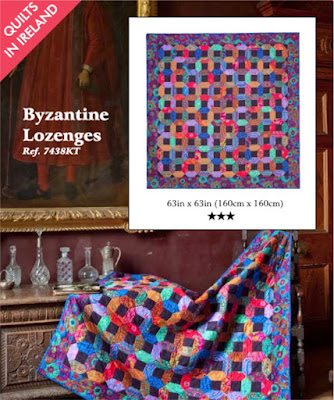 Byzantine Lozenges quilt from Quilts in Ireland