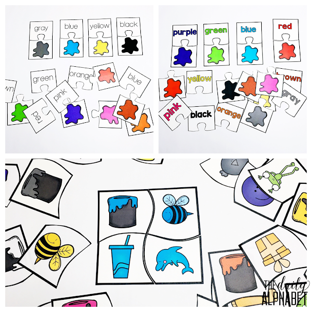 Color recognition practice that is fun to do! Small Box Activities are easy to prep activities that are purposeful, and are perfect for little hands. It can be used for morning work, a center, early finisher work, etc.