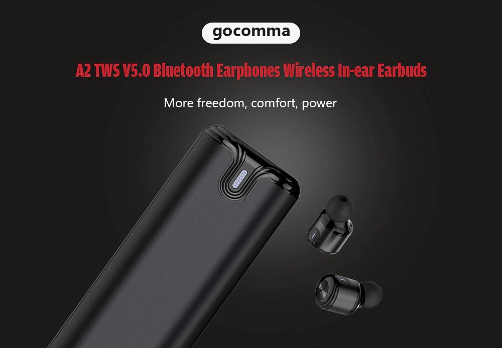gocomma A2 TWS V5.0 Bluetooth Earphones Wireless In-ear Earbuds