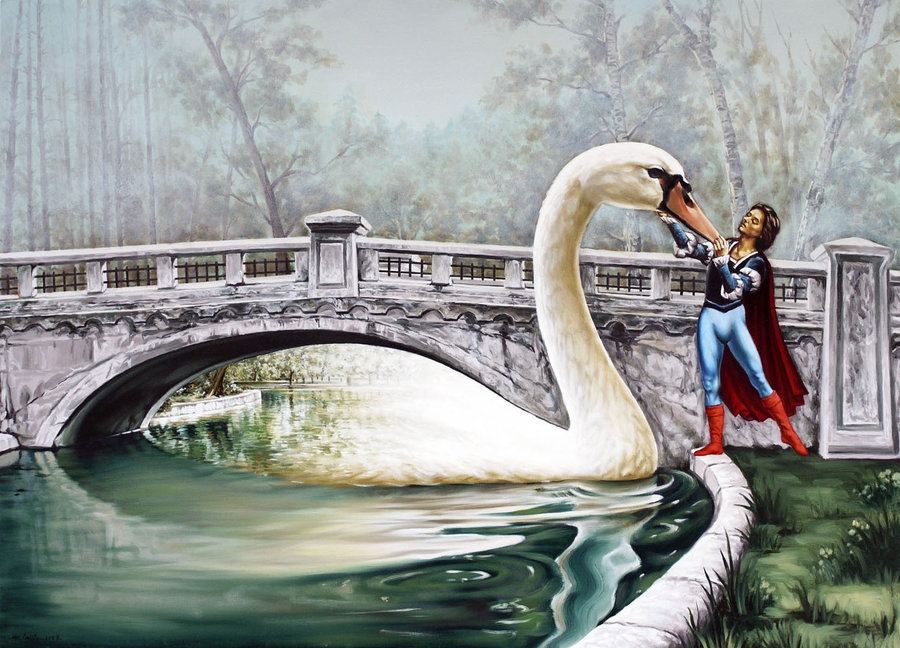 04-Swans-Lake-Mihai-Cristeis-Surreal-Art-and-Optical-Illusion-Paintings-www-designstack-co