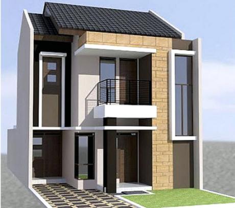 Contoh Gambar Rumah Minimalis Type 45 2 Lantai