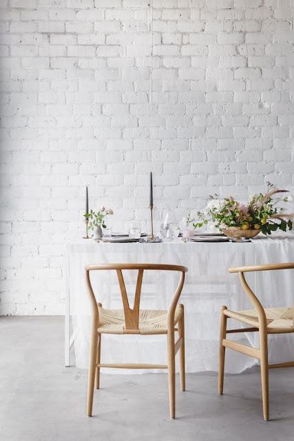 image result for modern farmhouse interior design beautiful white brick