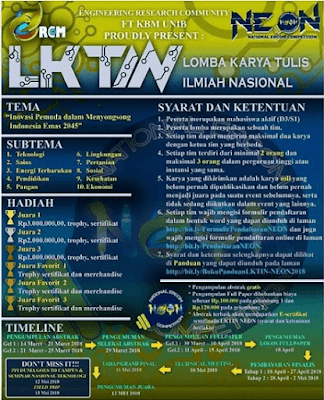 Lomba Karya Tulis ilmiah (NEON) National Ercom Competition 2018