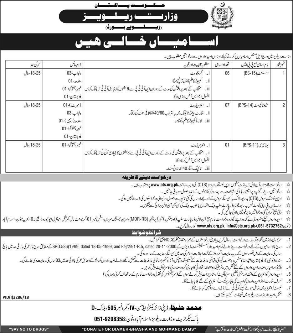Jobs in Pakistan Railways - Rozgarwala pk