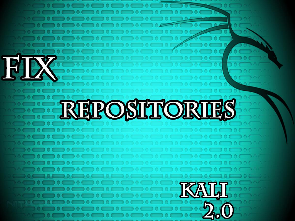 Kali Linux Tutorials - Sources list Fix Repositories - k4linux
