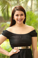 Mannara Chopra in Short Off Shoulder Black Dress ~  Exclusive 060.JPG
