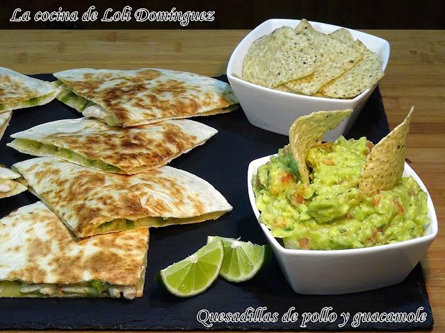 Quesadillas de pollo y guacamole súper fácil