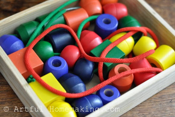 Fine Motor Coordination: Keeping Little Ones Hands Busy. primary lacing beads