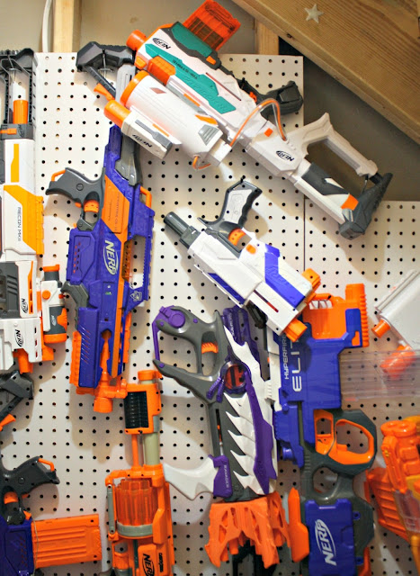 Awesome Nerf storage idea