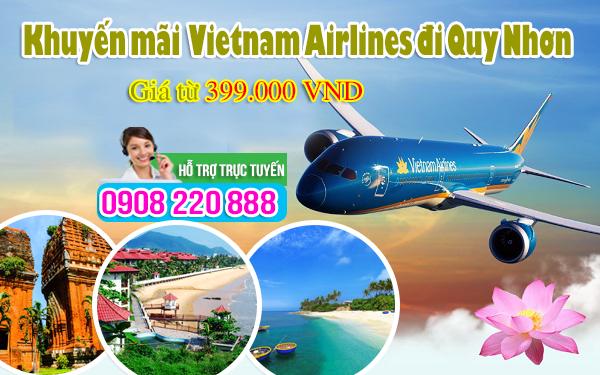 Vietnam Airlines khuyến mãi Quy Nhơn giá chỉ từ 399.000 VND