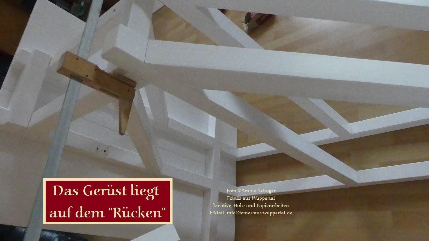 Ein Holzgerüst Für Mein Holz Modell