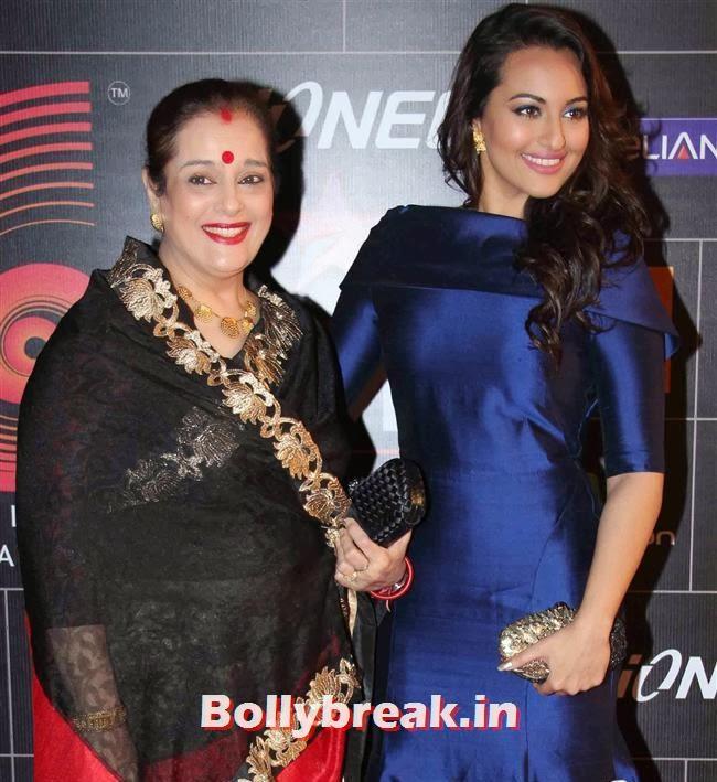 Poonam Sinha andSonakshi Sinha, Global Indian Music Awards 2014 Pics