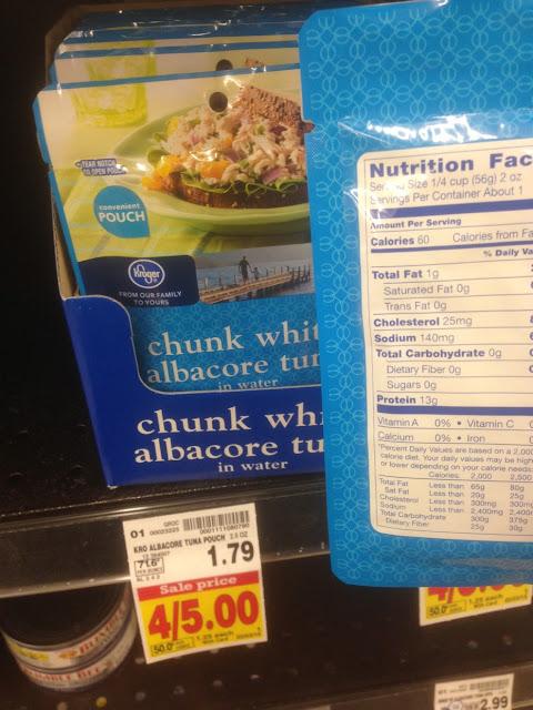 Chunk White Albacore Tuna, 2.5 oz - Kroger