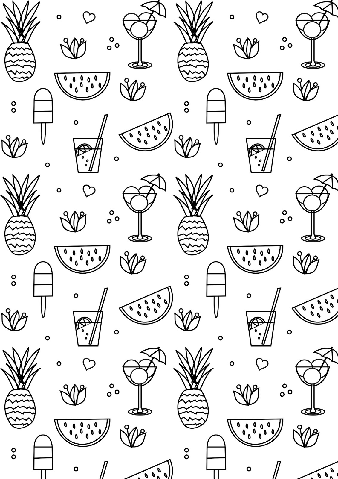 Free printable summer coloring page ausdruckbare for Free printable coloring pages summer