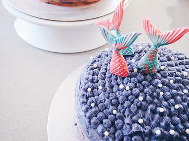 Purple mermaid cakes