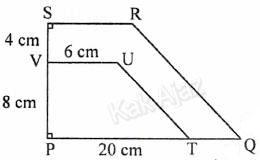 Trapesium PTUV sebangun dengan trapesium PQRS, soal matematika SMP UN 2017 no. 28, kesebangunan